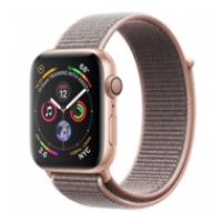 Apple Watch Series 4 40mm GPS Gold Aluminum Case with Pink Sand Sport Loop MU692