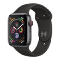 Apple Watch Series 4 44mm LTE Black Sport Band MTUW2