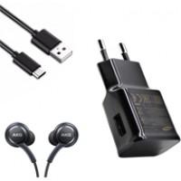 Combo phụ kiện Samsung S8/S8 Plus (sạc,cáp,tai nghe)