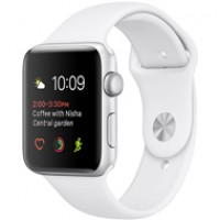 Apple Watch Series 2 42mm Silver Aluminium Case Sport - White MNPJ2