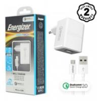 Sạc Energizer QC2.0 (kèm cáp Micro) ACW1QEUHMC3