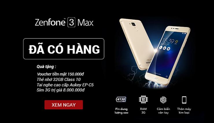 Sắm Zenfone 3 Max-Quà thả ga