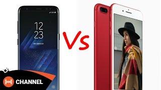 Galaxy S8 với iPhone 7 Plus Red: máy nào hấp dẫn hơn.