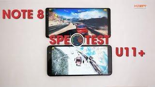 Speedtest HTC U11 Plus với Galaxy Note8: Mãnh hổ đại chiến.