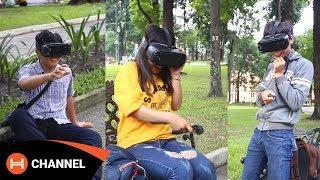 Phản ứng khi lần đầu trải nghiệm Samsung Gear VR 2017 của các bạn trẻ Sài Gòn.