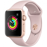 Apple Watch Series 3 42mm Gold Aluminum Case MQL22 98% ( 146 QT )