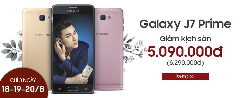 Galaxy J7 Prime, giá shock: 5.090.000đ