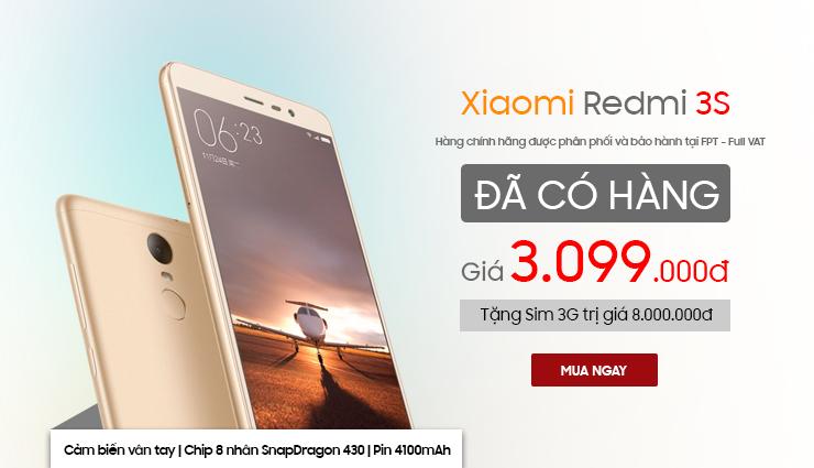 Xiaomi Redmi 3S đã có hàng
