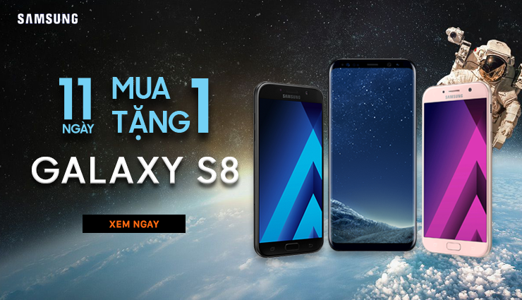 Mua 1 tặng 1 Galaxy S8