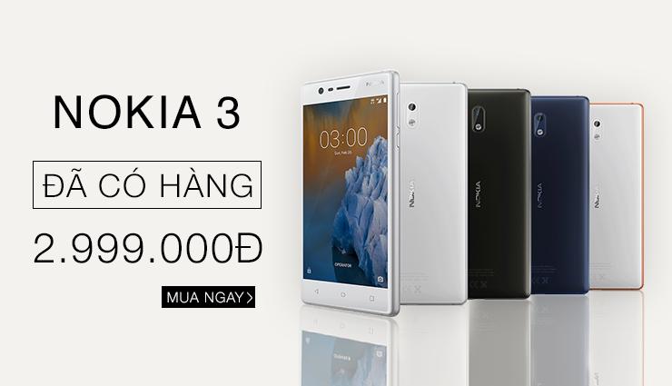 Mới có hàng: Nokia 3