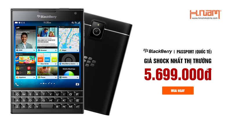 Blackberry Passport giá tốt