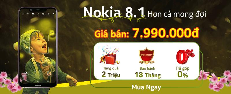 Rinh Quà Tiền Triệu Cùng Nokia 8.1