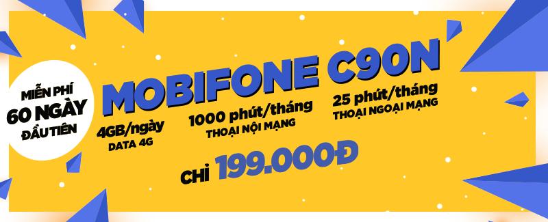 Mobi C90N 4GB/ ngày chỉ 199.000đ