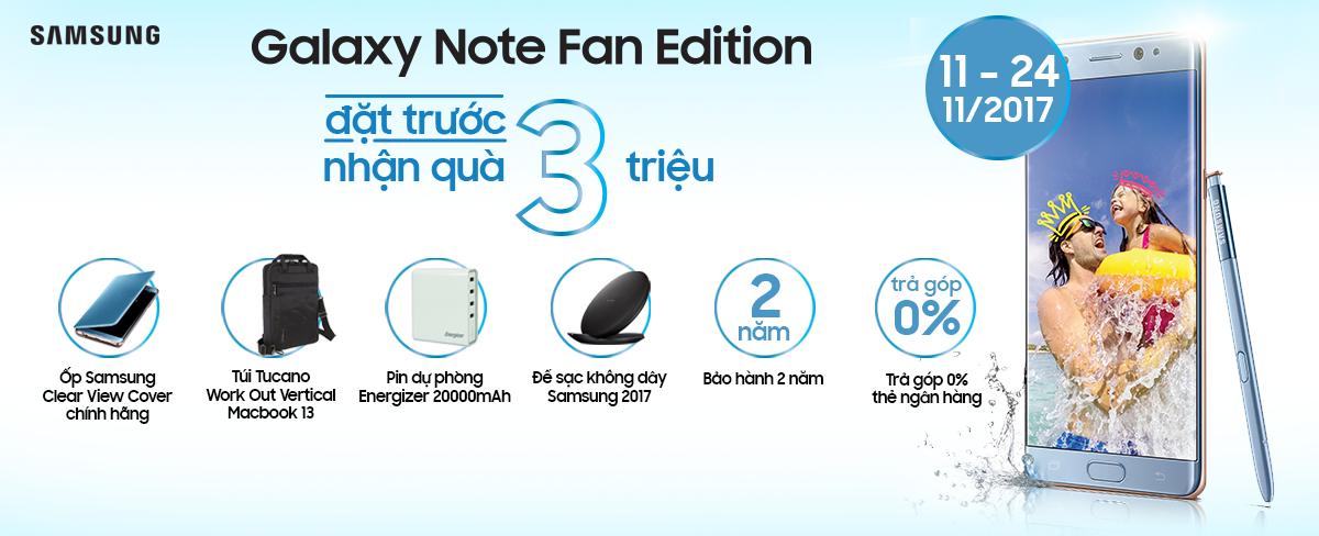 Đặt cọc Note FE: quà 3 triệu