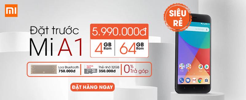 Đặt trước: Xiaomi Mi A1 cấu hình mạnh, rẻ