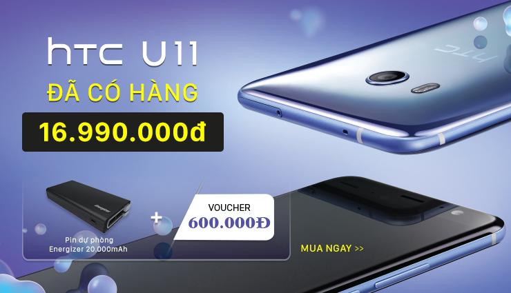 HTC U11: Đã có hàng