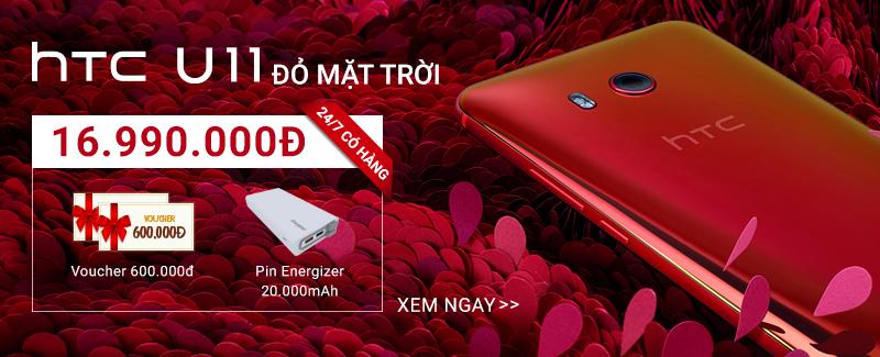 HTC U11 đỏ mặt trời: 24/7 có hàng