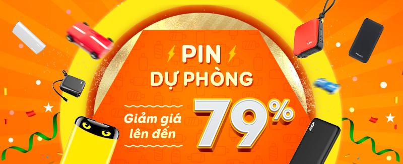 Pin dự phòng giảm giá đến 79%