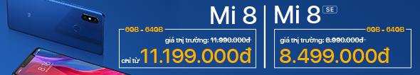 Mi 8 & Mi 8 SE Đã Có Hàng