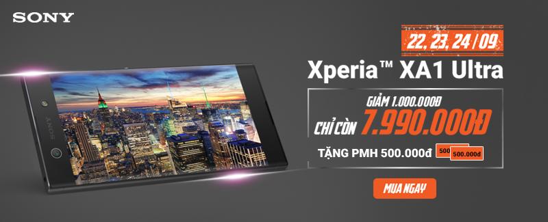 Siêu giảm: Sony XA1 Ultra giảm 1.5 triệu