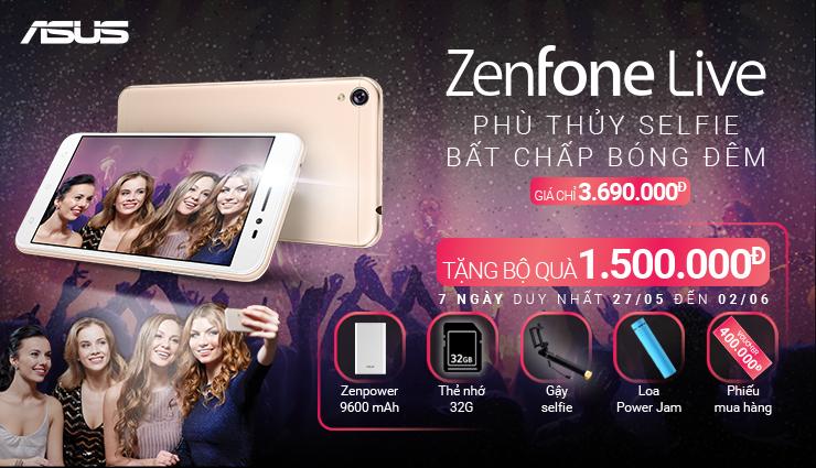 ZenFone Live: Quà 1.5 triệu