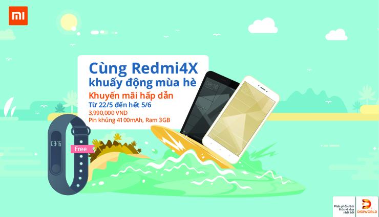 Redmi 4X: tặng Mi Band 2