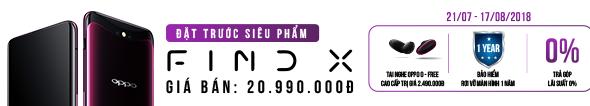Đặt trước Oppo Find X, quà 5 triệu