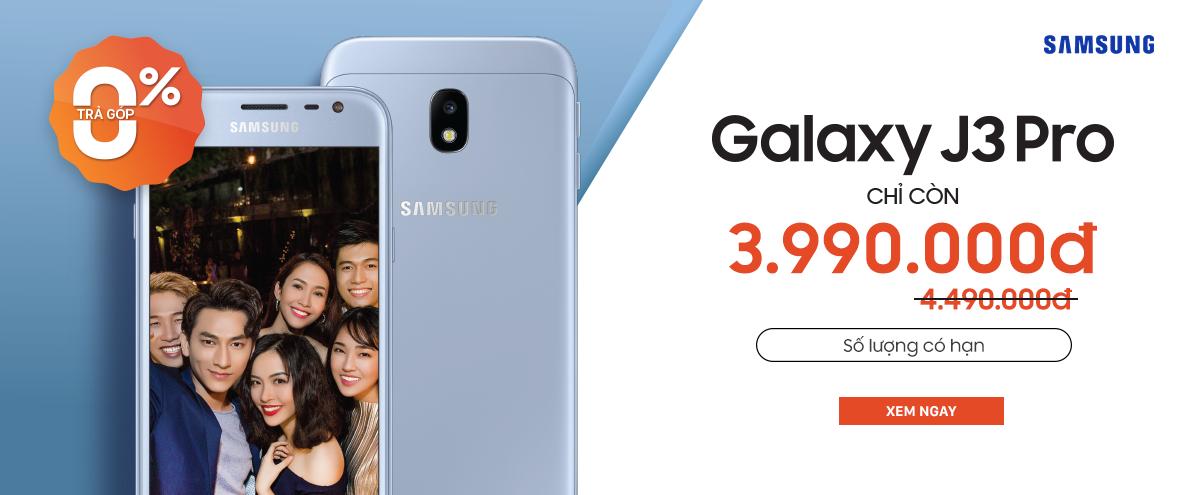 Galaxy J3 Pro: nay chỉ còn 3.990.000đ