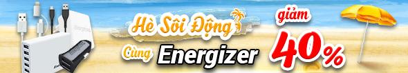 Energizer Giảm Đồng Loạt Đến 40%