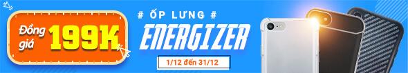 Ốp lưng Energizer đồng giá 199k