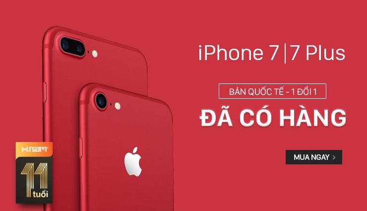 iPhone 7 ĐỎ giá chỉ từ 18 triệu