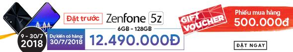 Đặt Sớm Zenfone 5z Nhận Bộ Quà Chính Hãng