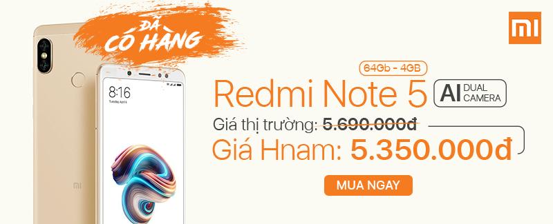 Xiaomi Redmi Note 5 - ĐÃ CÓ HÀNG