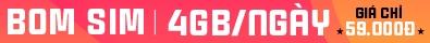 Vietnamobile BOM sim 4GB/ ngày