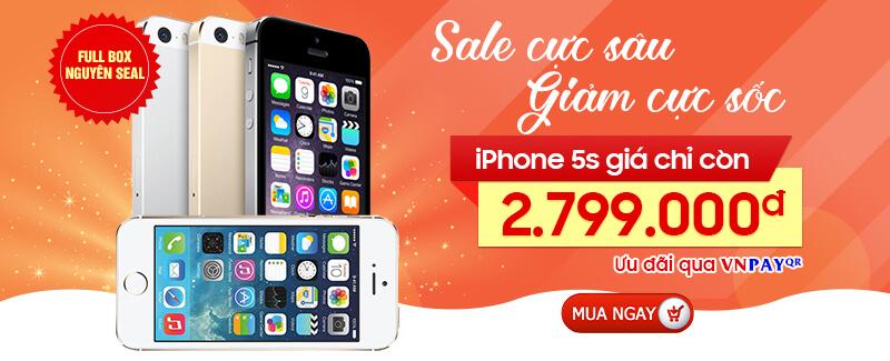 iPhone 5S Giá Siêu Ưu Đãi
