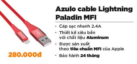 Azulo cable Lightning Paladin MFI (1m2)