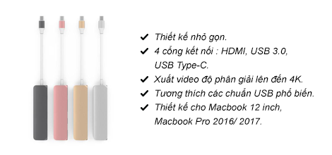 Bộ chia cổng HyperDrive Type-C (HDMI 4K)