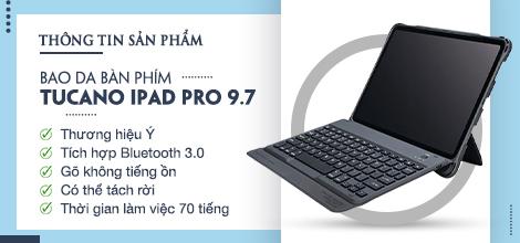 Bao da bàn phím Tucano iPad Pro 9.7