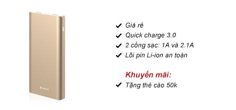 Pin dự phòng Devia King Kong 10000mAh QC3.0