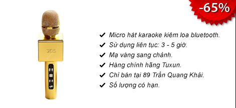 Micro Karaoke di động kiêm loa X6