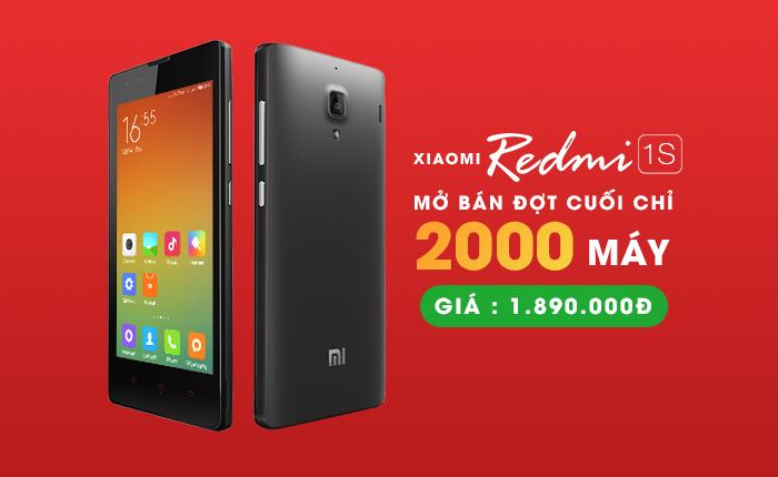 HnamMobile.com mở bán Redmi 1S đợt cuối, giá chỉ 1.890.000đ