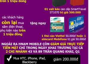 03 Khuyến mãi siêu khủng mừng Hnam Mobile khai trương chi nhánh thứ 6