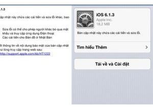 Apple ra bản cập nhật iOS 6.1.3 sửa lỗi màn hình khóa