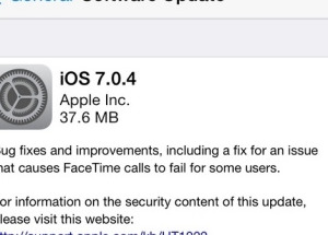 Apple tung iOS 7.0.4 vá lỗi FaceTime