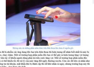 Báo Người Lao Động phỏng vấn Hnam Mobile