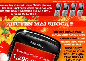 Mua Blackberry chính hãng tại Hnam Mobile - Cơ hội chưa từng có