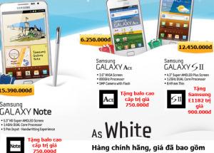Hnam Mobile đã có bộ sưu tập WHITE của Samsung.