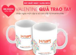 Đón Valentine – quà trao tay tại Hnam Mobile