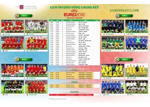 Download lịch thi đấu Euro 2012