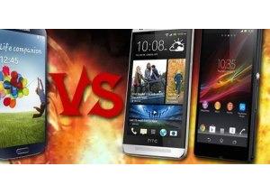 Galaxy S4 'đua' cấu hình với HTC One và Xperia Z